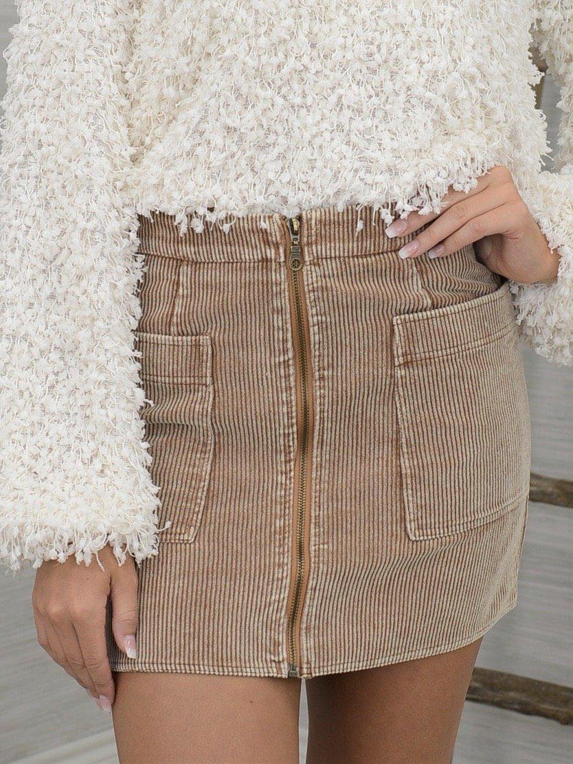 Zip it Up Skirt-Women's -New Arrivals-Runway Seven - Women's Clothing Boutique