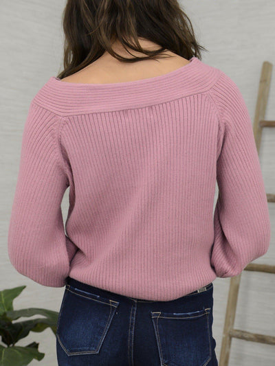 Faded Right Sweater-Women's -New Arrivals-Runway Seven