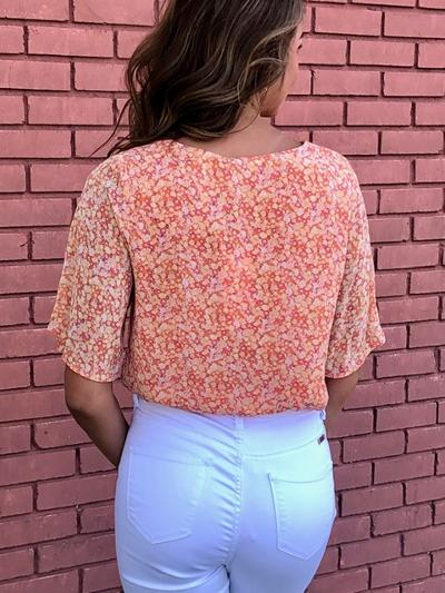 Floral In Coral Top-Women's -New Arrivals-Runway Seven