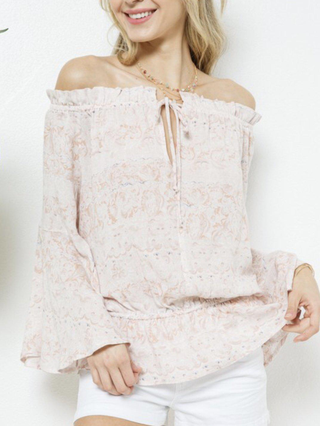 SUMMER KISSED BLUSH TOP-Women's TOP-New Arrivals-Runway Seven