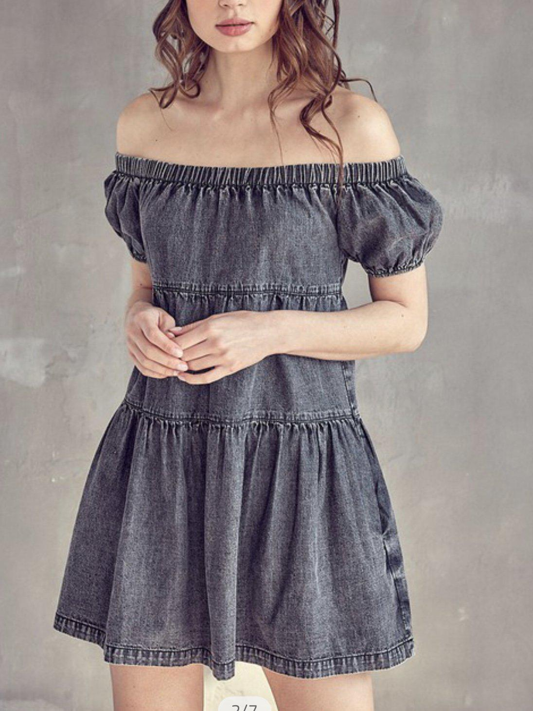 DENIM DARLING DRESS-Women's DRESS-New Arrivals-Runway Seven