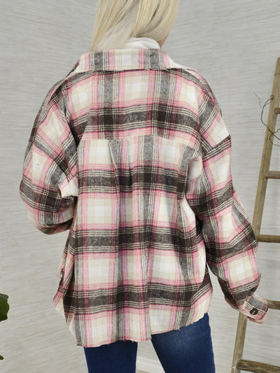 Mad for Plaid Shirt Jacket-Women's -New Arrivals-Runway Seven