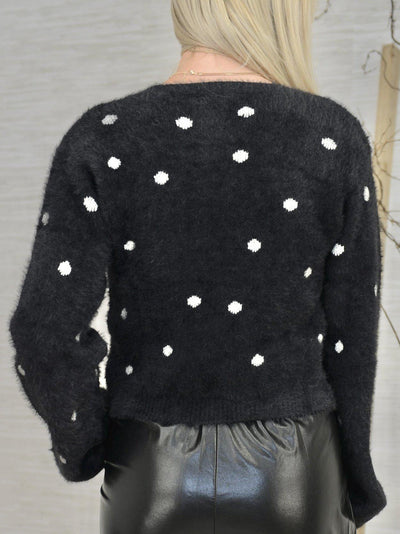 The Dots Have it Cardigan-Women's -New Arrivals-Runway Seven