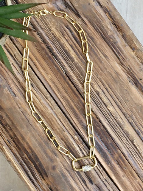 Locked and Loaded Necklace-Women's -New Arrivals-Runway Seven