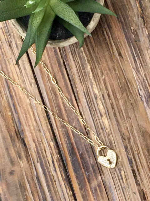 Heart of Gold Necklace-Women's -New Arrivals-Runway Seven