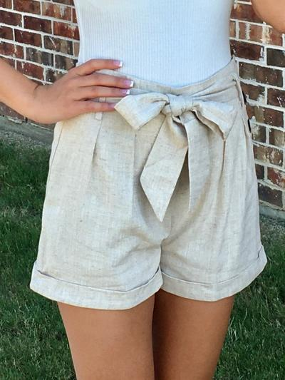 Nice and Neutral Shorts-Women's -New Arrivals-Runway Seven