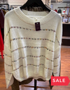 SALE: MINI POM SWEATER - ORIG $59-Women's -New Arrivals-Runway Seven