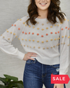 SALE: ALL POMMED UP SWEATER ORIG $59