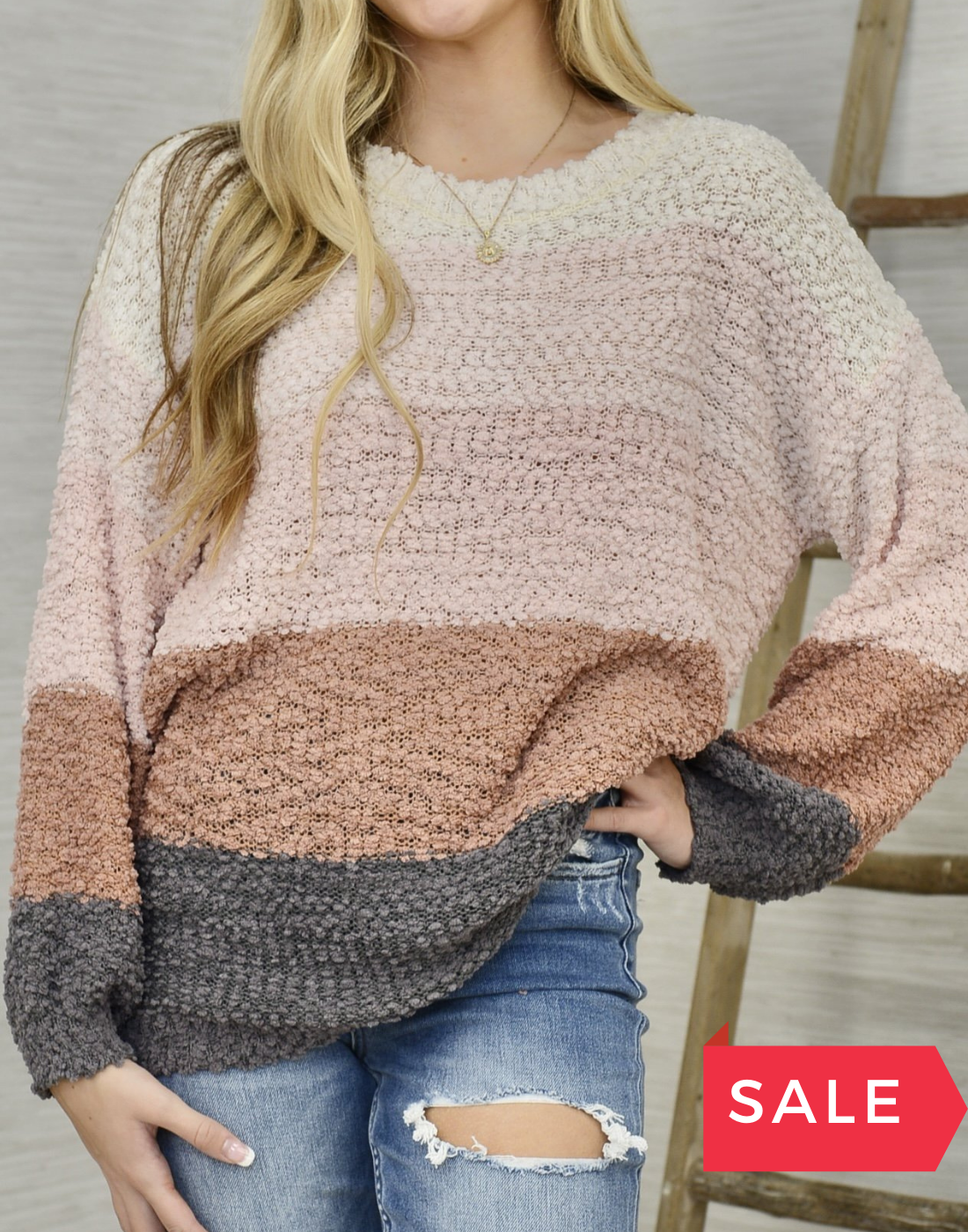 SALE: SEASONED WITH STYLE SWEATER - ORIG $59