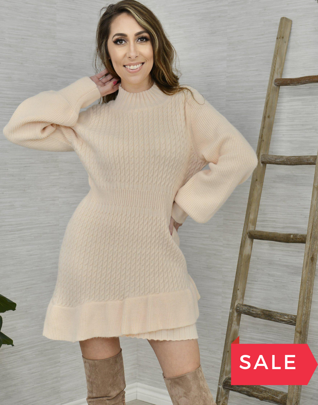 SALE: WINTER DREAMS SWEATER DRESS - ORIG $79