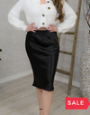 SALE: LIQUID SATIN MIDI SKIRT - ORIG $49
