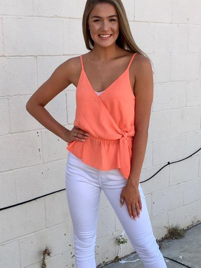 Tangerine Time Top-Women's -New Arrivals-Runway Seven