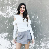 Cloudy Thoughts Suede Skort