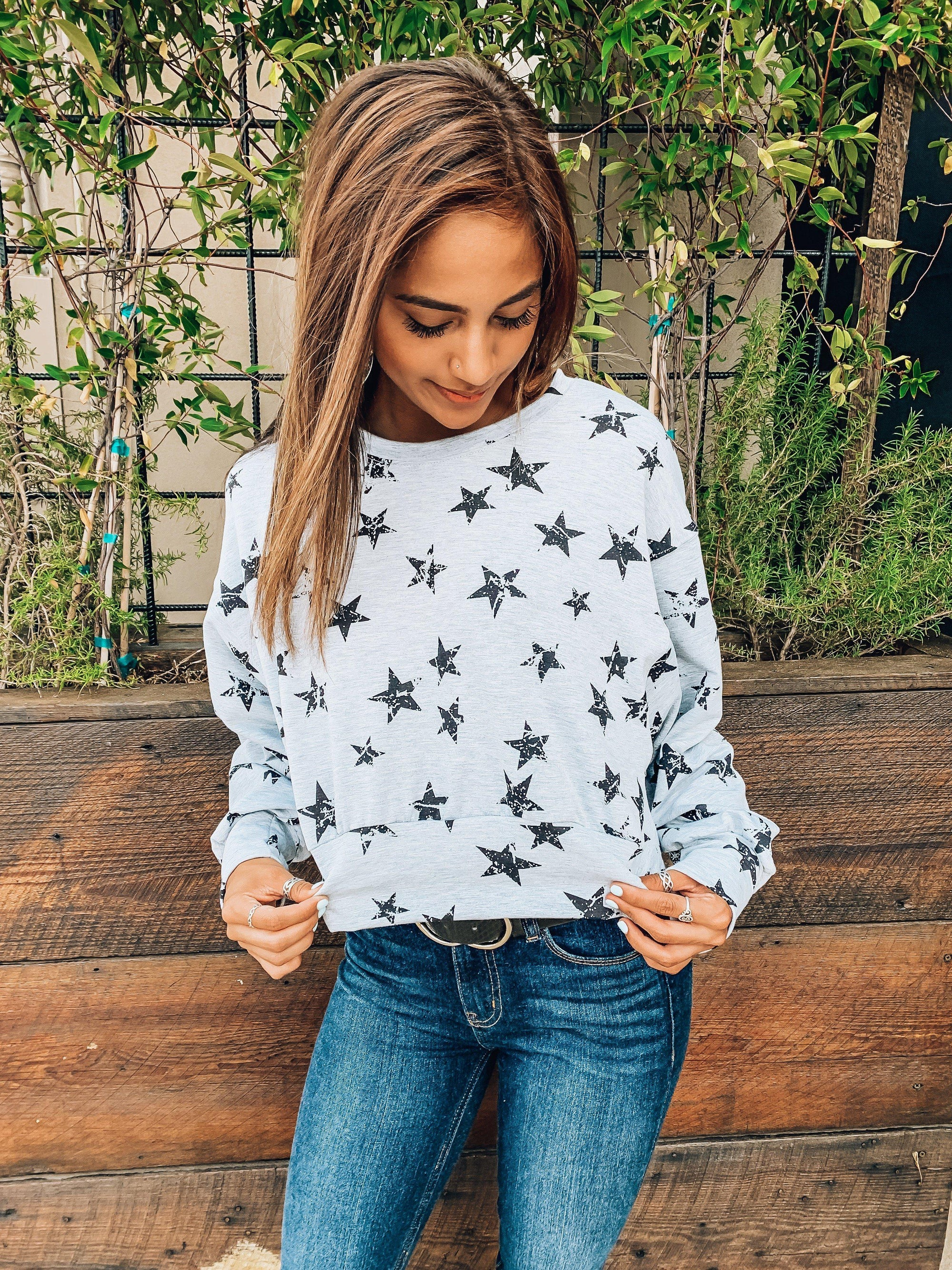 Stargazing Crop Top-Women's TOP-New Arrivals-Runway Seven