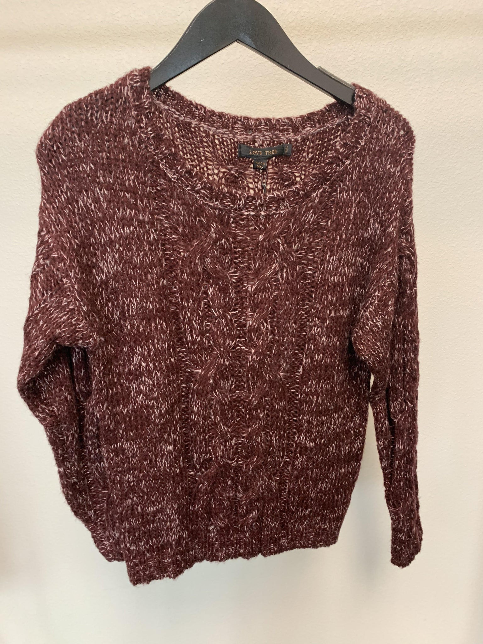 Travel Time Sweater-Burgundy