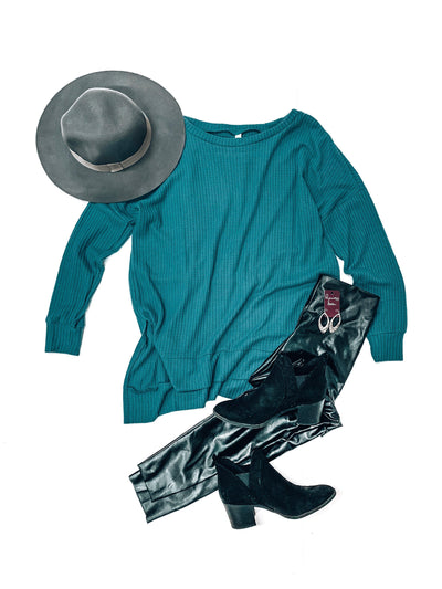 Jetsetter Top-Teal-Women's TOP-New Arrivals-Runway Seven