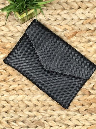 Woven Well Clutch-Women's -New Arrivals-Runway Seven