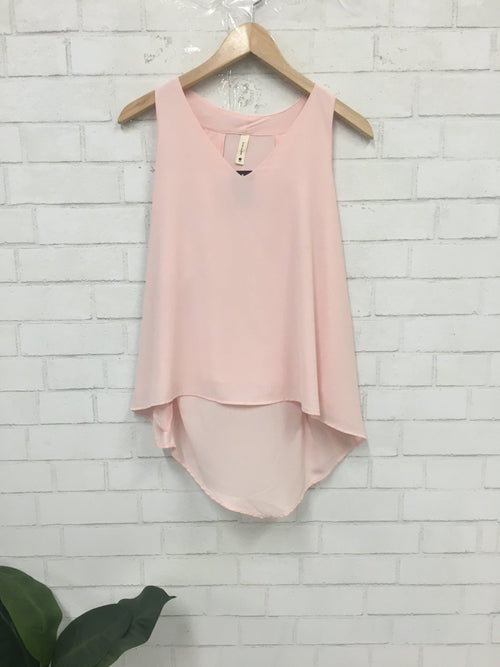 Pastel Pink Top-Women's SALE-New Arrivals-Runway Seven - Women's Clothing Boutique