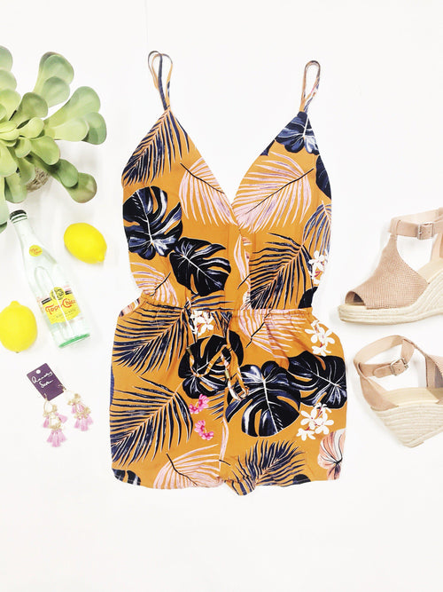 Down In The Tropics Romper-Women's ROMPER-New Arrivals-Runway Seven