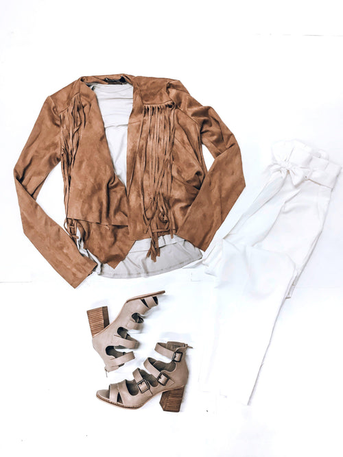 Pumpkin Patch Fringe Jacket-Women's TOP-New Arrivals-Runway Seven