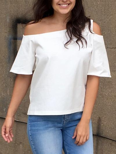 Crisp White Way Top-Women's -New Arrivals-Runway Seven