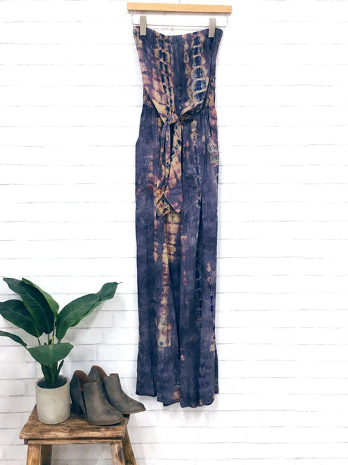 Purple Sky Jumpsuit-Women's ROMPER-New Arrivals-Runway Seven