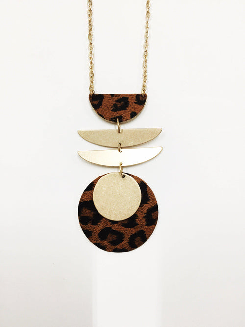 Wild Night Leopard Necklace-Women's JEWELRY-New Arrivals-Runway Seven