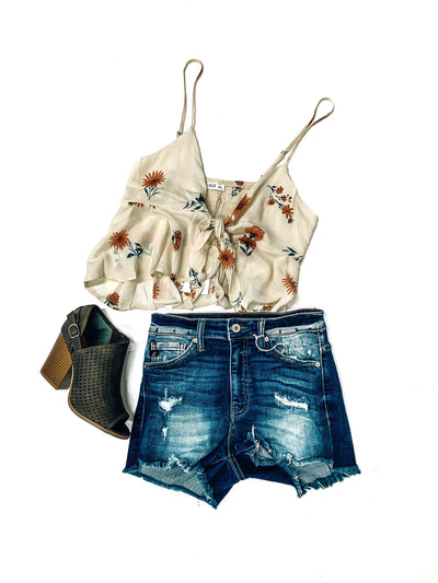 Seven Rings Denim Shorts-Women's DENIM-New Arrivals-Runway Seven