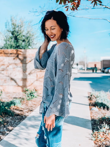 Resolutions Scalloped Sweater