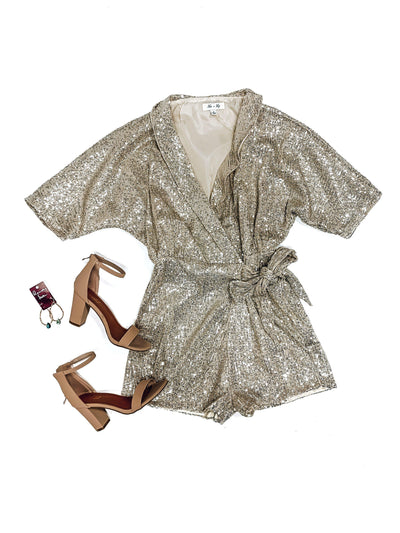 Champagne Toast Romper-Women's ROMPER-New Arrivals-Runway Seven