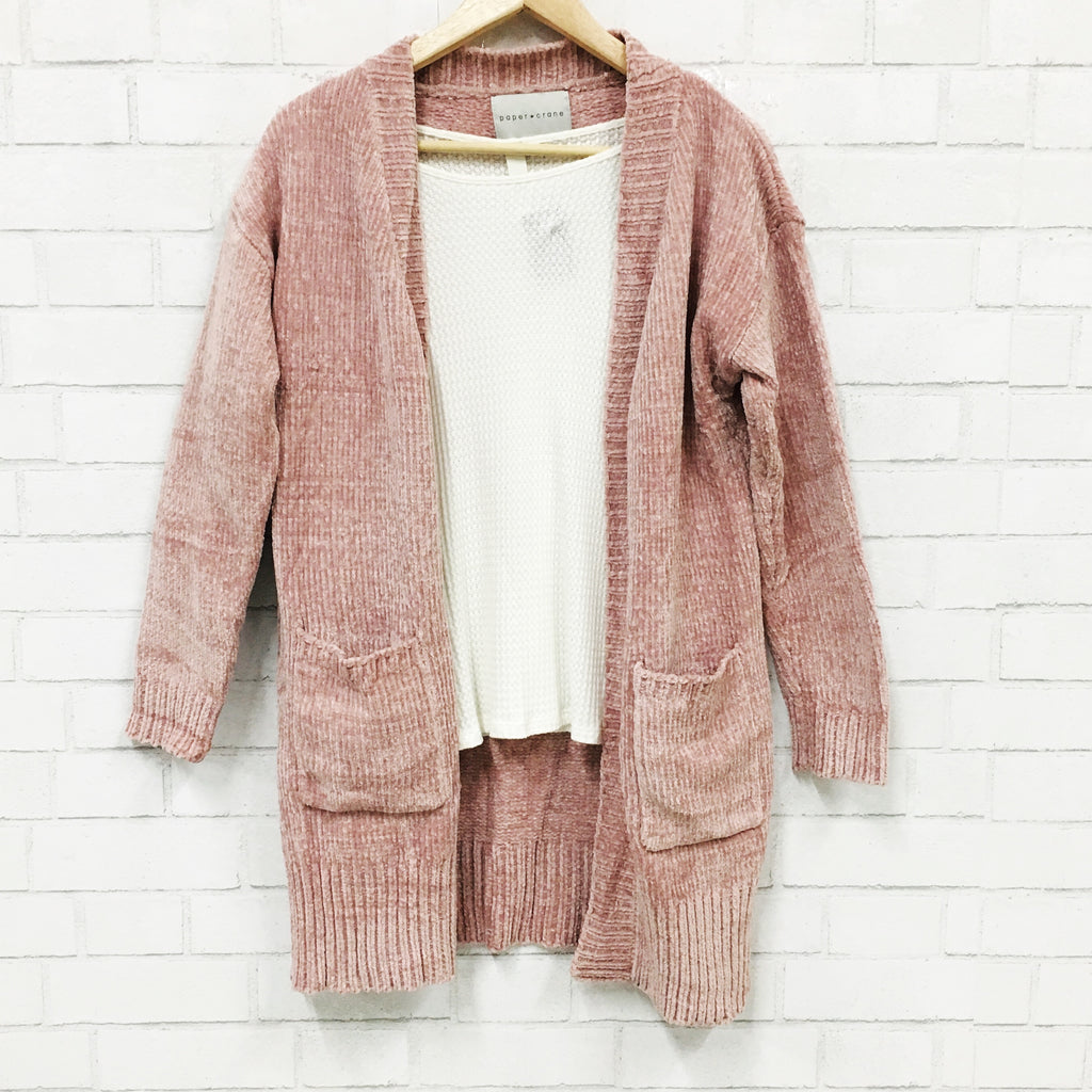 Pink Please Chenille Cardigan