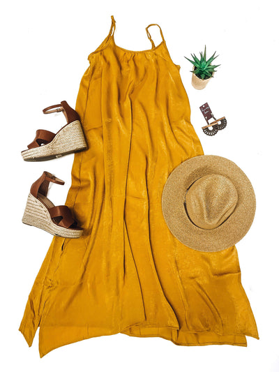 Travel Therapy Dress-Mustard-Women's DRESS-New Arrivals-Runway Seven