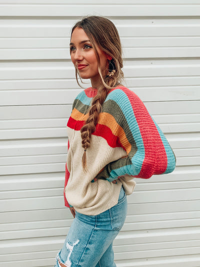 Over The Shoulder Sweater-Women's SWEATER-New Arrivals-Runway Seven