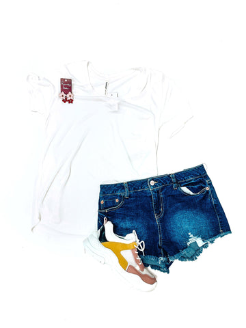 Orange Beach Denim Shorts