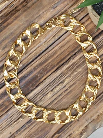 Gold and Bold Chain Necklace-Women's -New Arrivals-Runway Seven
