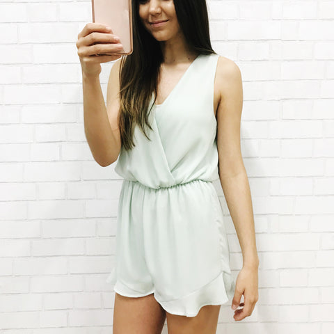 Mint To Be Tie Romper
