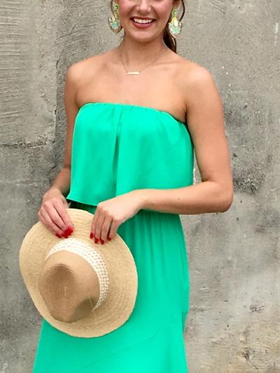 Grass Is Always Greener Dress-Women's -New Arrivals-Runway Seven