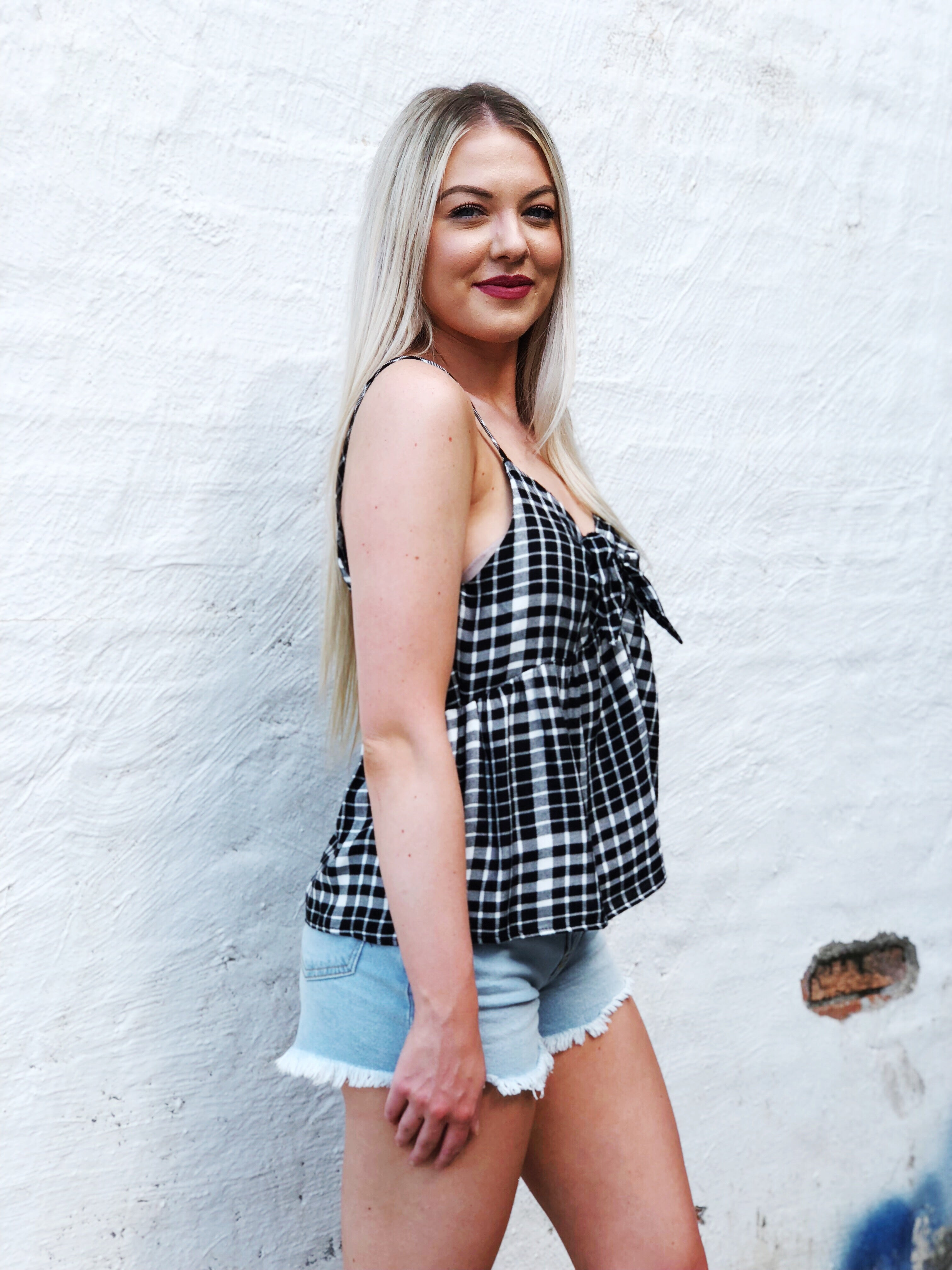 As If! Plaid Top