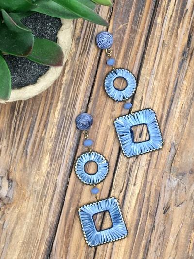 Indigo Bliss Earrings-Women's -New Arrivals-Runway Seven