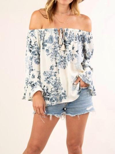 Indigo Garden Top-Women's -New Arrivals-Runway Seven