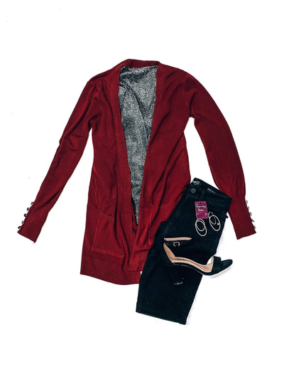 Bold Ambition Cardigan Sweater-Marsala-Women's SWEATER-New Arrivals-Runway Seven
