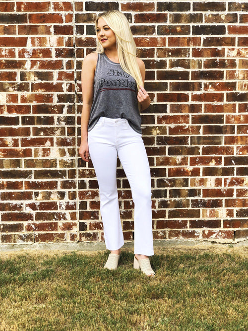 Cool Down White Cropped Flare Jeans-Women's DENIM-New Arrivals-Runway Seven