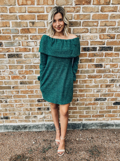 Holly Jolly Tunic Sweater Dress-Women's DRESS-New Arrivals-Runway Seven