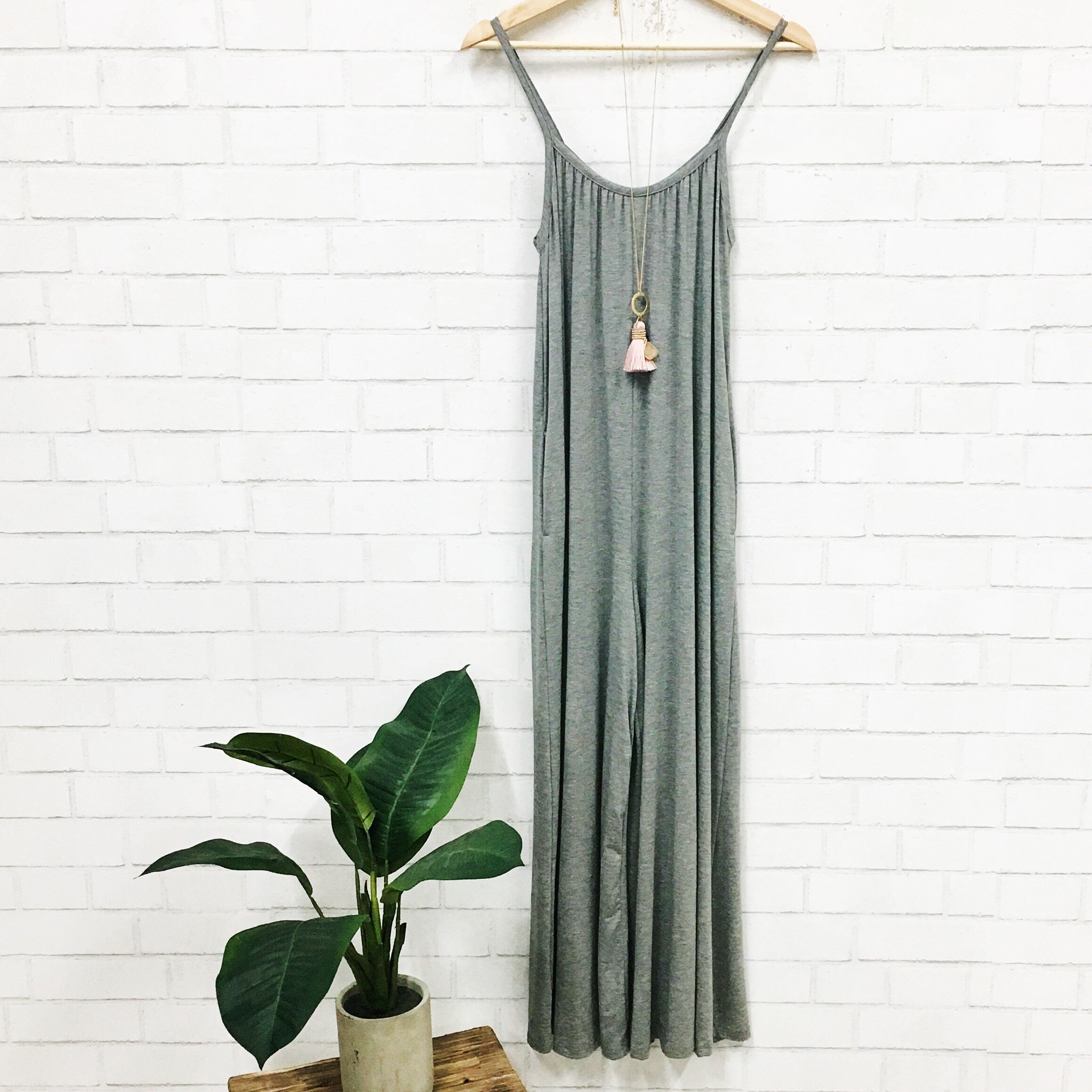 Head In The Clouds Wide-Leg Jumpsuit-Women's ROMPER-New Arrivals-Runway Seven