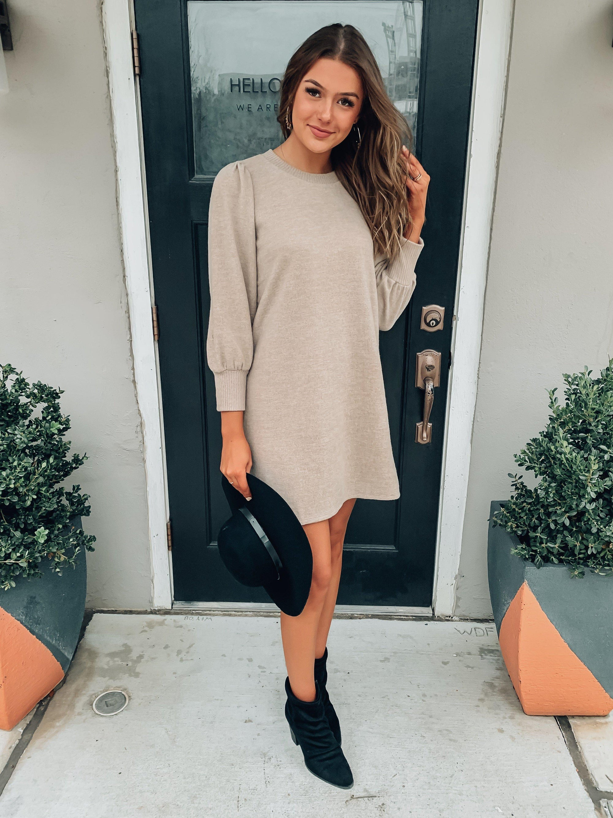 Blog About It Sweater Dress-Women's DRESS-New Arrivals-Runway Seven