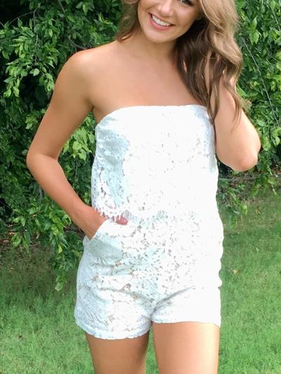 Lady in Lace Romper-Women's -New Arrivals-Runway Seven - Women's Clothing Boutique
