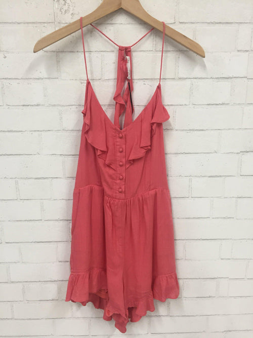 Coral Daydream Romper-Women's SALE-New Arrivals-Runway Seven