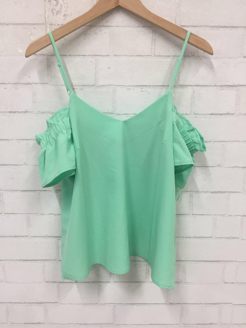 Cool Lime Cold Shoulder Top-Women's SALE-New Arrivals-Runway Seven