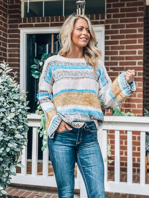 Stripes For Life Sweater-Women's Sweaters-New Arrivals-Runway Seven