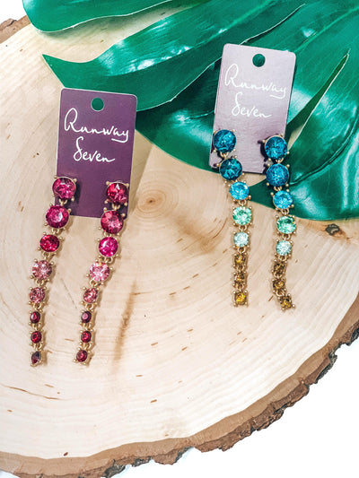 Colorful Cascade Earrings-Women's JEWELRY-New Arrivals-Runway Seven